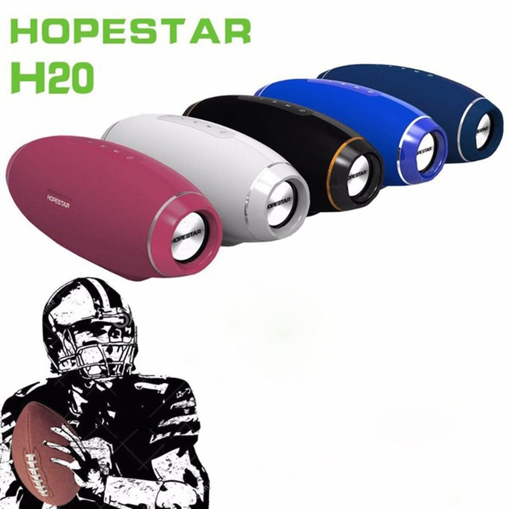 HOPESTAR Bluetooth Speaker Super Bass Wireless Speaker Subwoofer Speakers High Quality Rugby Shape for Phone Tablet Compute PC