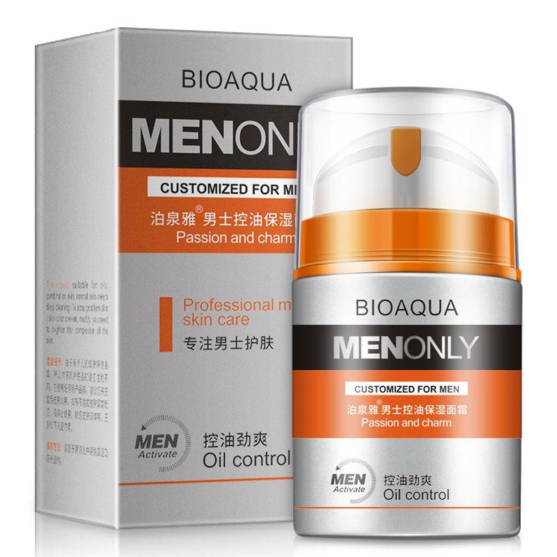 BIOAQUA Hommes Soins de La Peau anti-rides Hydratant crème pour le visage traitement de l'acné Points Noirs raffermissant resserrement hydratant masque facial 50g