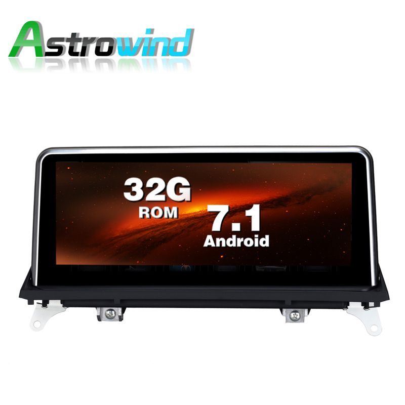 10.25 inch 2G RAM 32G ROM Android 7.1 System Car GPS Navigation Media Stereo Radio For BMW X5 E70 X6 E71 2011- 2014 CIC System