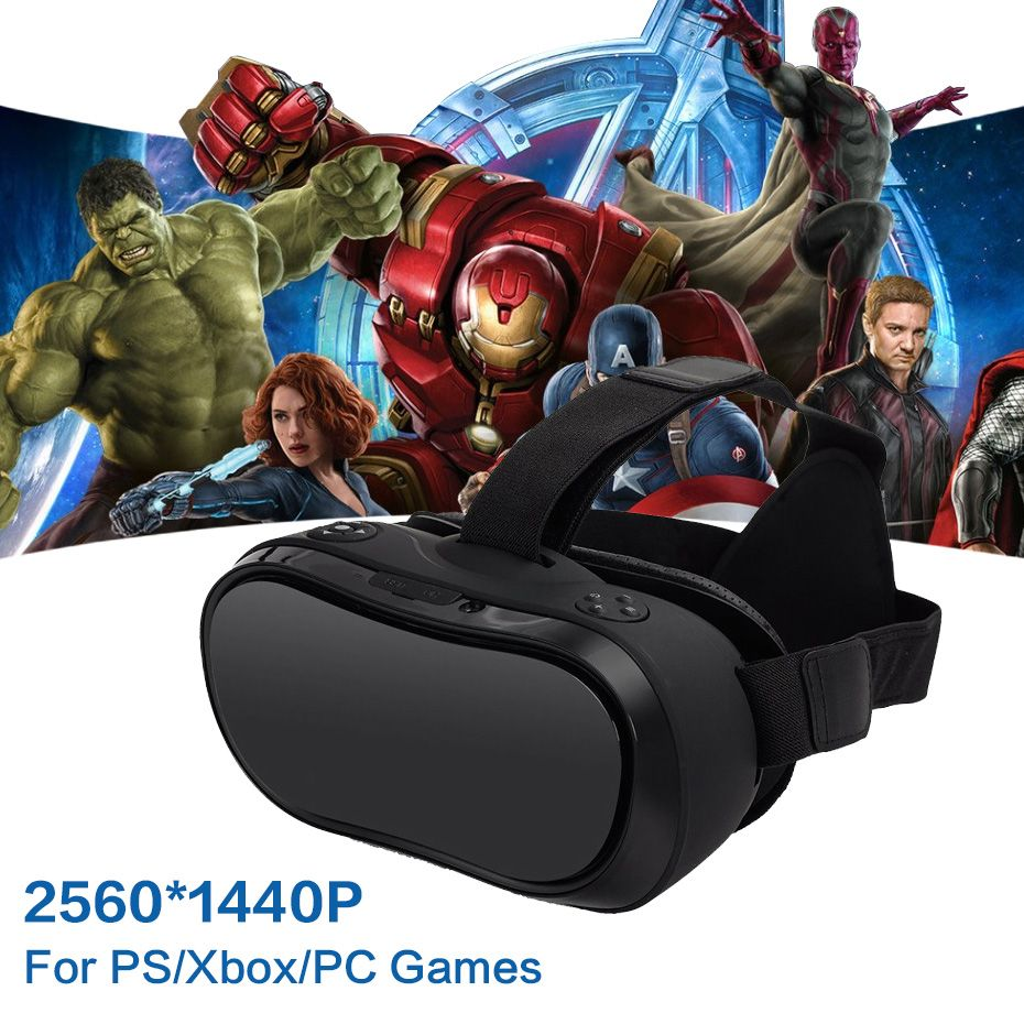 VR Box 3D Glasses Virtual PC Glasses Headset All In One VR For PS 4 Xbox 360/One 2 K HDMI Nibiru Android 5.1 Screen 2560*1440 P