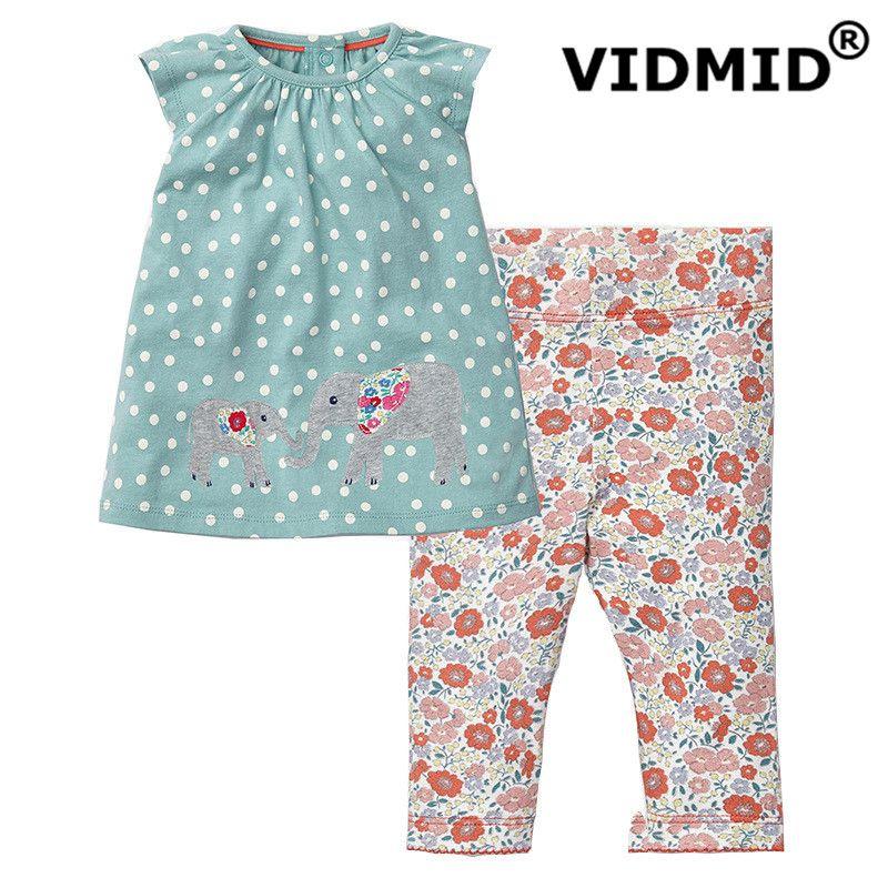 VIDMID filles ensemble de vêtements bébé filles vêtements costumes pour filles été t-shirt + pantalon vêtements pour enfants pour bébé coton mignon