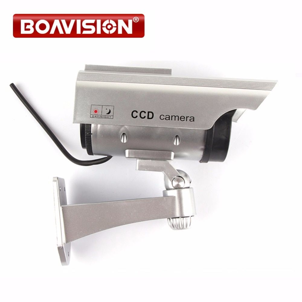 Solar gun type monitors Security Use Real Looking Dummy Fake CCTV Camera Security Camera with