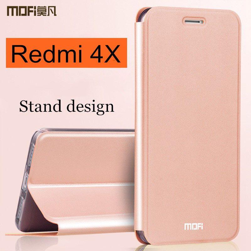 Xiaomi Redmi 4X housse Redmi4x étui à rabat en cuir de silicone dur coque MOFi version globale xiaomi Redmi 4x cas