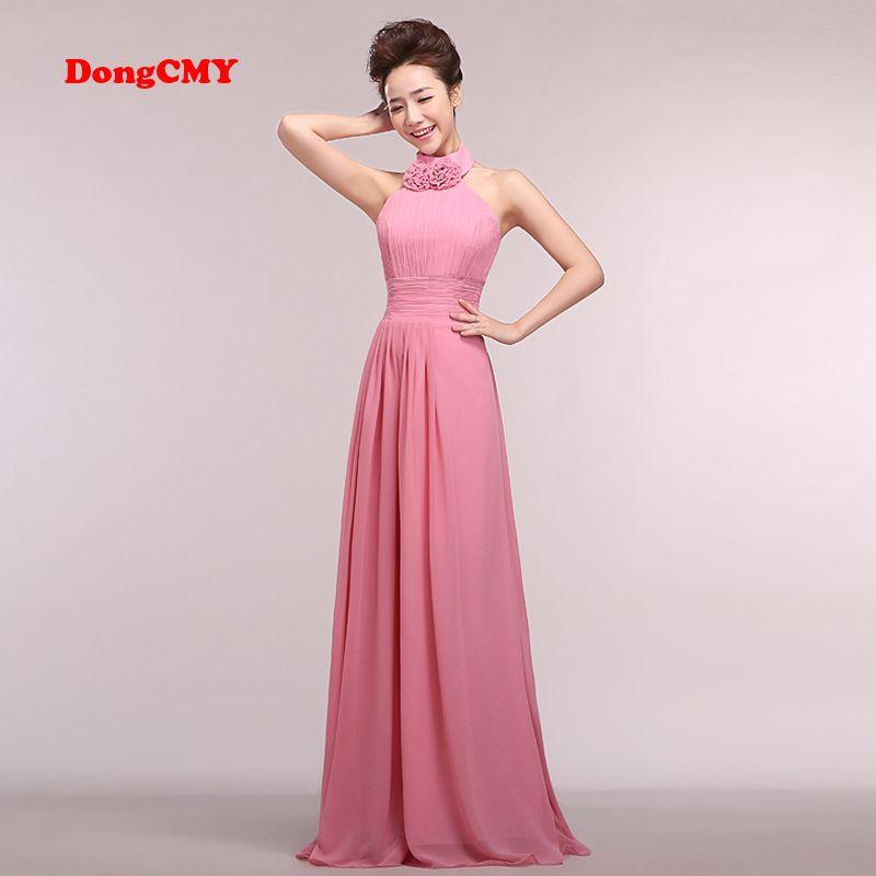 DongCMY CG1867 Gasa Largos vestidos de Dama de 2017 nuevos de la manera más tamaño Vestido de festa