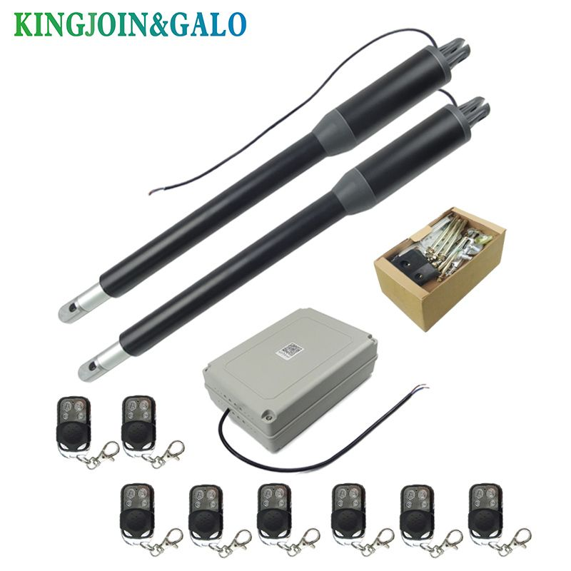 AC 110V/220V Electric Linear Actuator 300kgs Engine Motor System Automatic Swing Gate Opener + 4 remote control
