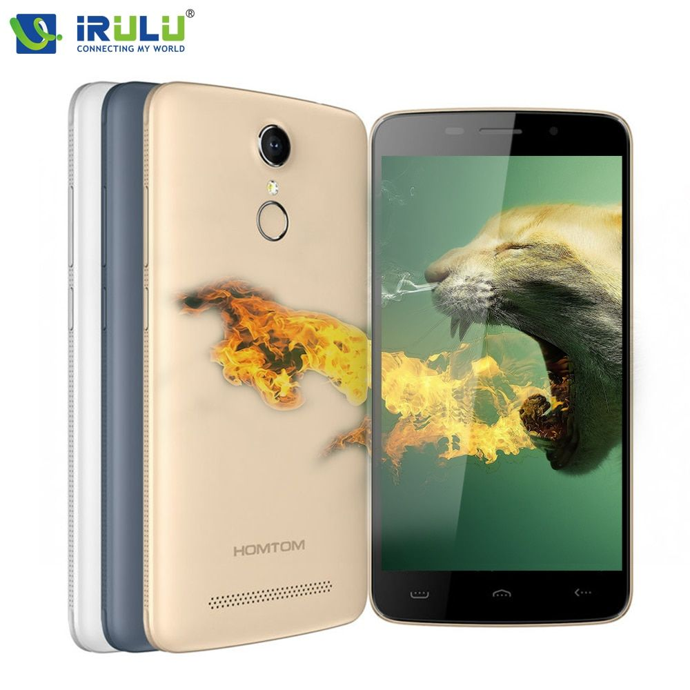 Original HOMTOM HT17 5.5 inch 1280x720HD 4G FDD Android 6.0 Fingerprint Quad Core 1GB+8GB 13MP New Smart Mobile Phone