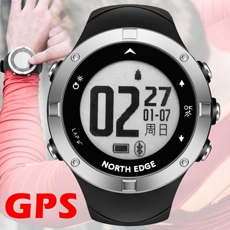 GPS uhr digitale Stunde Herz Rate Männer digitale armbanduhr smart wasserdichte Kalorien Laufen Jogging Triathlon Wandern NORDEN RAND