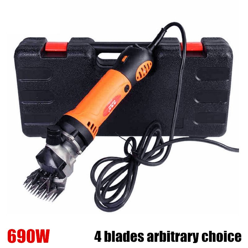 Free shipping 690W Electric Sheep Shearing Clipper Scissors Shears Cutter Goat Clipper Machines 4 kinds of blades 220v-240v
