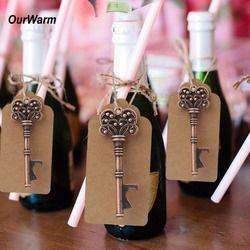 Ourwarm 50 unids regalos de boda para los huéspedes recuerdos de la boda decoración rústica abrebotellas + etiquetas Recuerdos de una fiesta evento Fiesta suministros