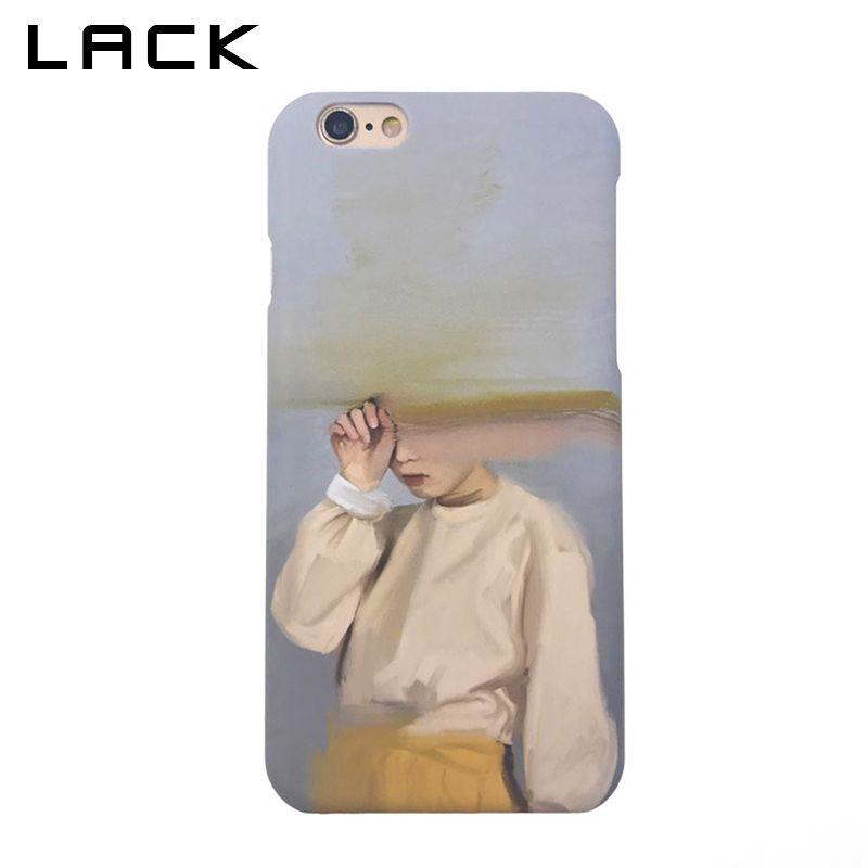 FEHLT Fashion Harte PC Matttelefon-kasten Für iphone 6 Fall Abstrakte kunst Mädchen Sand Malerei Rückseitige Abdeckung Für iphone 6 S 6 Plus Fällen