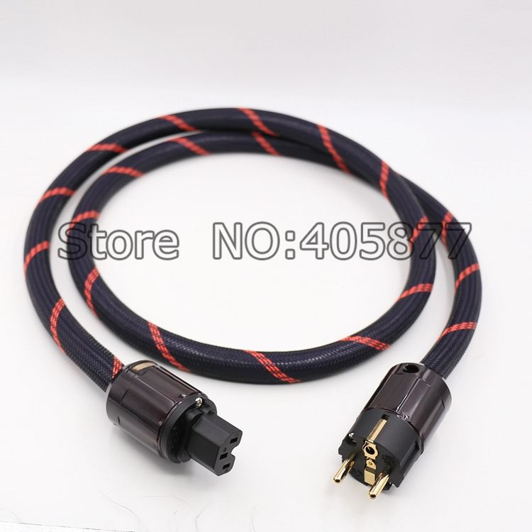 Hi-End OFC PURE COPPER Copper Power cable with Schuko Power Plug Audio Power cable hifi