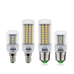 1 pcs E27 E14 LED Maïs Ampoule SMD 5730 Bougie Lumières 220 V accueil Décoration Lampe pour Lustre Spotlight 12 24 36 48 56 69 LEDs