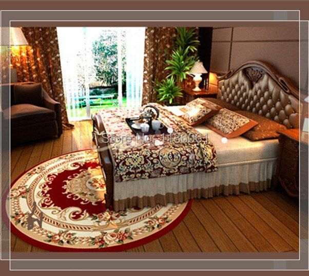 Hot Sale Shaggy Round Carpet For Livingroom and Area Red Rug of Bathroom Bedroom Carpets Kitchen Mat Tapetes De Sala