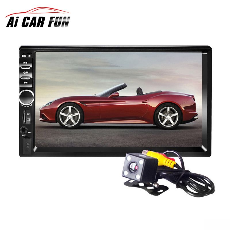 2017 7018B Bluetooth2.0 7inch 2DIN Car Radio Audio Stereo Player Handsfree TFT Taouch Screen Car MP5 Player TF/SD MMC USB FM