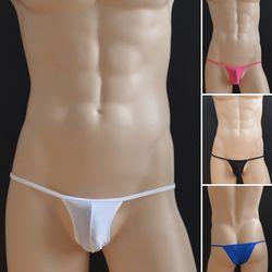 Gratis pengiriman mens sexy setengah kembali celana pakaian es sutra pakaian tipis ketat celana celana penis pouch pria sex toy pakaian
