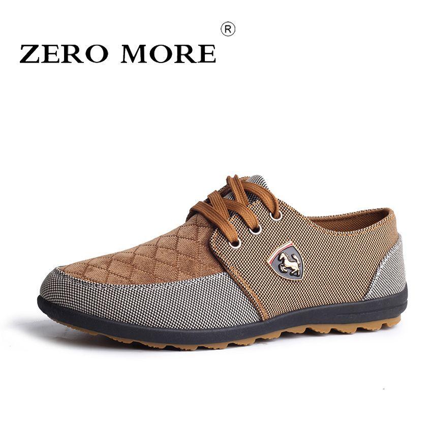 <font><b>ZERO</b></font> MORE Big Size 39-45 Men Casual Shoes Spring Autumn Fashion Men Canvas Shoes Hot Sale Men Flats Lace Up Male Footwear