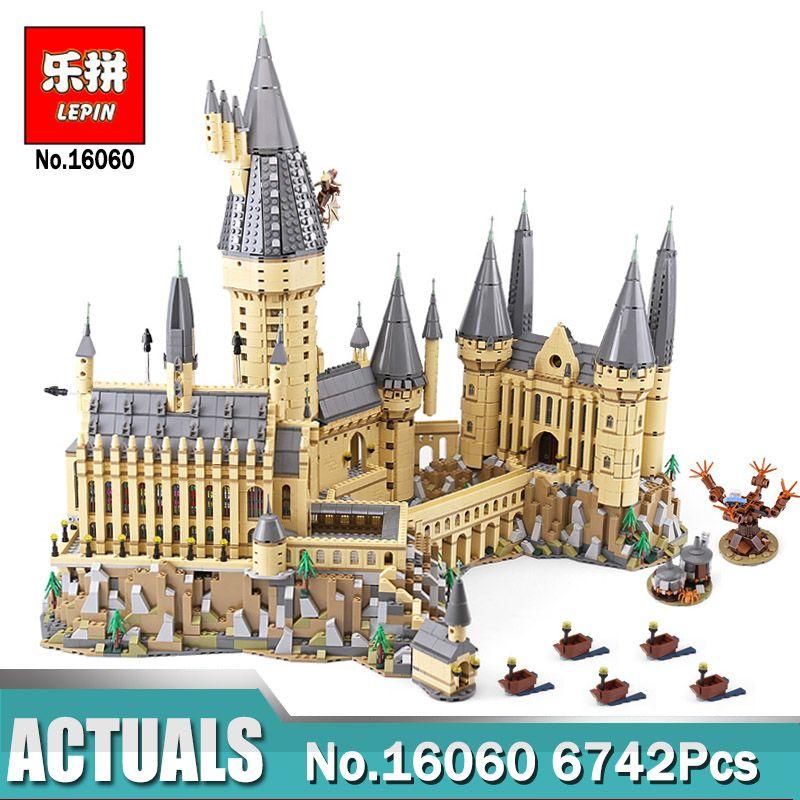 Lepin 16060 Harry's School Set The Potter Hogwarts Castle Building Blocks Toys Legoiglys 71043 Castle as Christmas Gifts