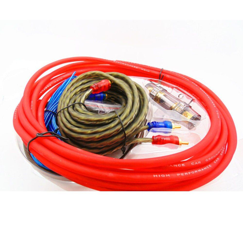 Audio Wire Cable Kit with Fuse Holder 6GA Car Power Subwoofer Amplifier Speaker Installation