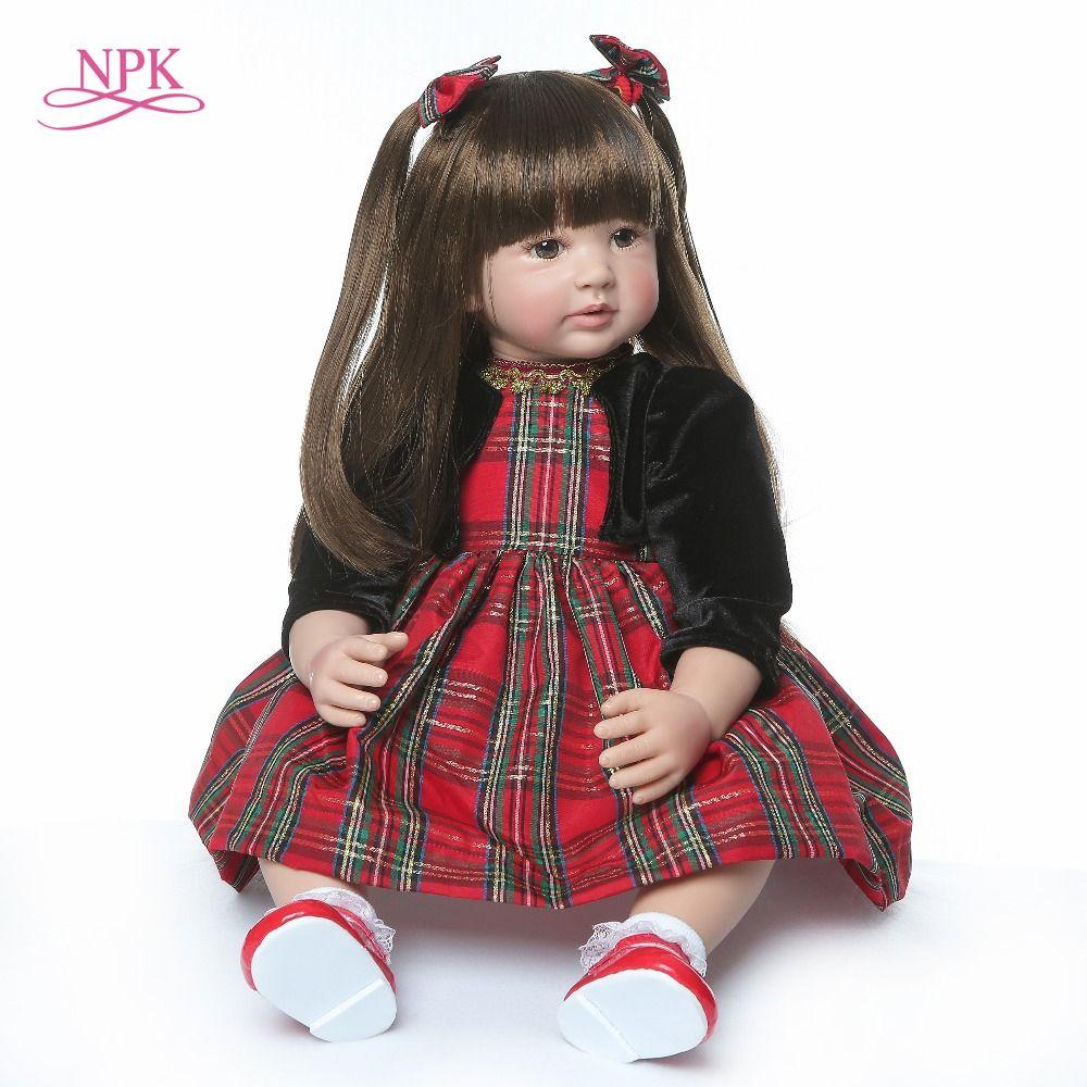 60cm very big reborn toddler princess Handmade Silicone vinyl adorable Lifelike Baby Bonecas girl kid bebe doll reborn menina