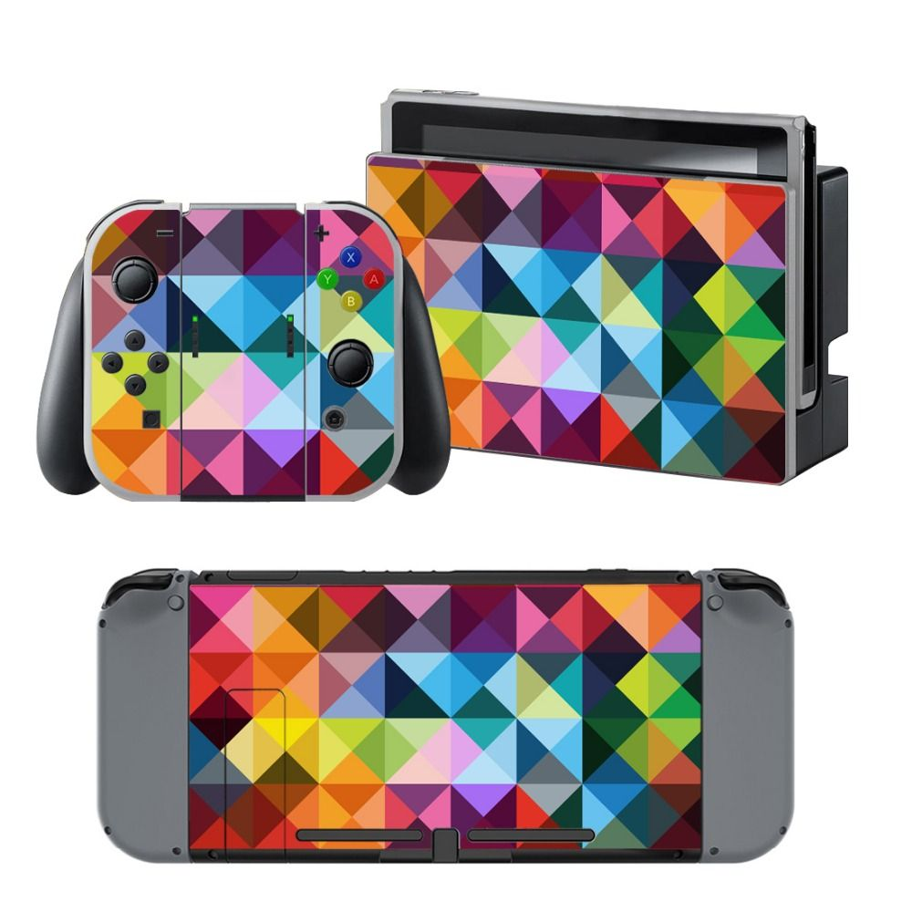 NS NX Accessories Vinyl Skin Sticker for Nintendo Switch Console Protector Cover Decal Vinyl Skin for Skins Stickers 0123
