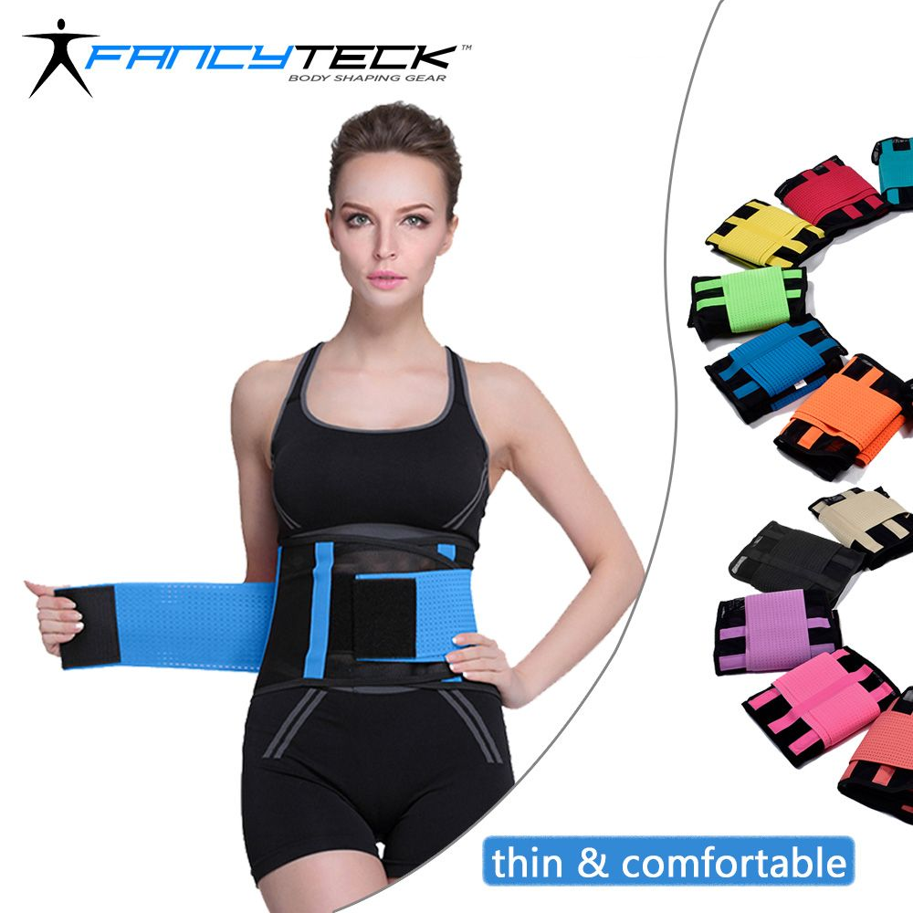 Fancyteck Women's Waist Trainer Belt Postpartum Belly Wrap Weight Loss Workout Fitness Slimmer Trimmer S M L XL XXL Body Shaper