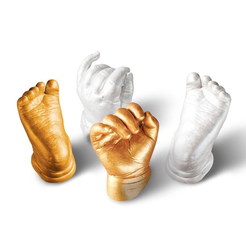 Новое поступление 3D пластырь handprint след ребенка плесени рук и ног литья принтами комплект литой для подарка