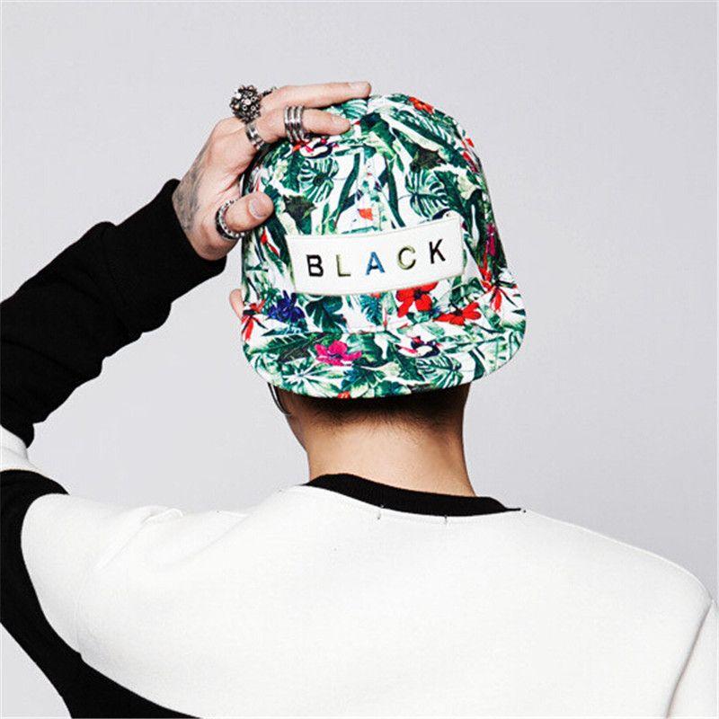 [FETSBUY] Hot nouvelle Casquette Snapback Casquette hommes femmes Casquette réglable Hip Hop noir Snap Back casquettes de Baseball chapeaux de fleurs Gorras