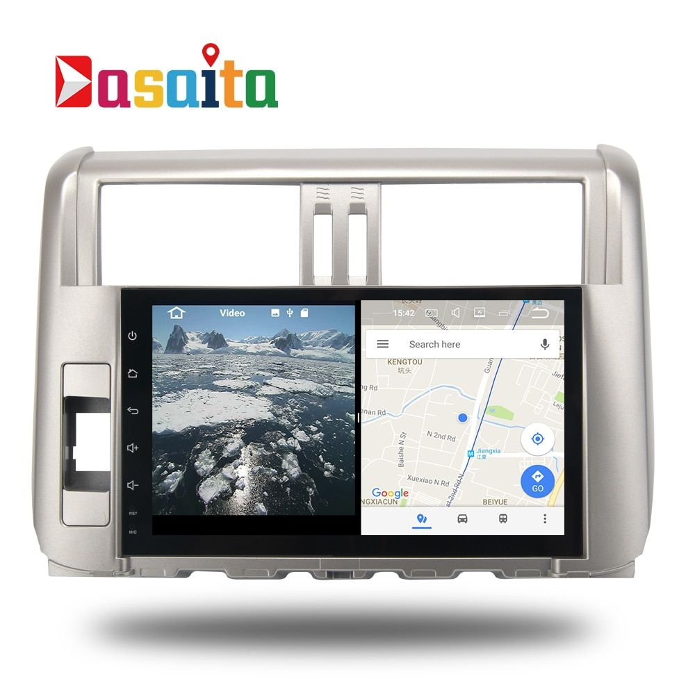 Car Android 7.1 GPS Navi for Toyota Prado 150 2010 - 20013 autoradio navigation head unit multimedia 2Gb+16Gb RDS HDMI output