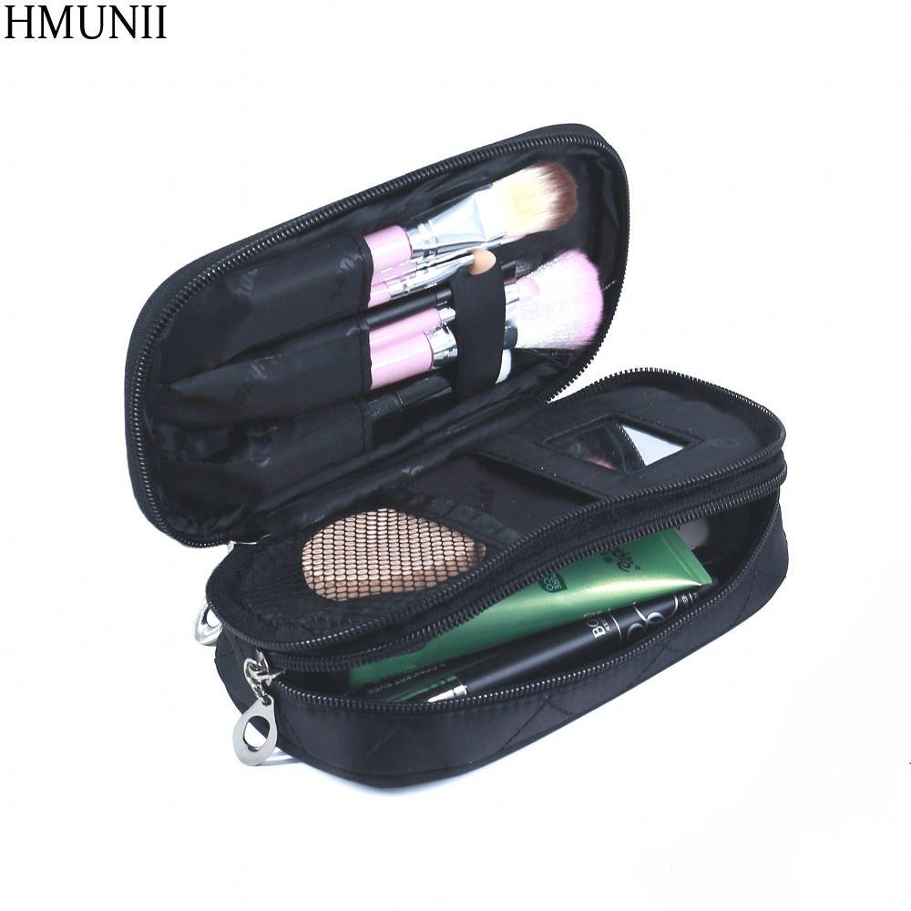 Portable Cosmetics Organizer Travel bag Small Portable Nylon Professional Storage Brush  Bag Case Travel Packing Organizers