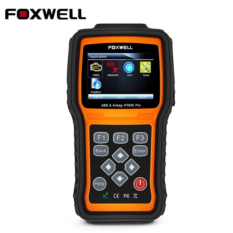 OBD2 Car Diagnostic-Tool Foxwell NT630 Pro OBD 2 Automotive Scanner for Engine/ABS/Airbag/SRS/SAS Reset Lifelong Update Free