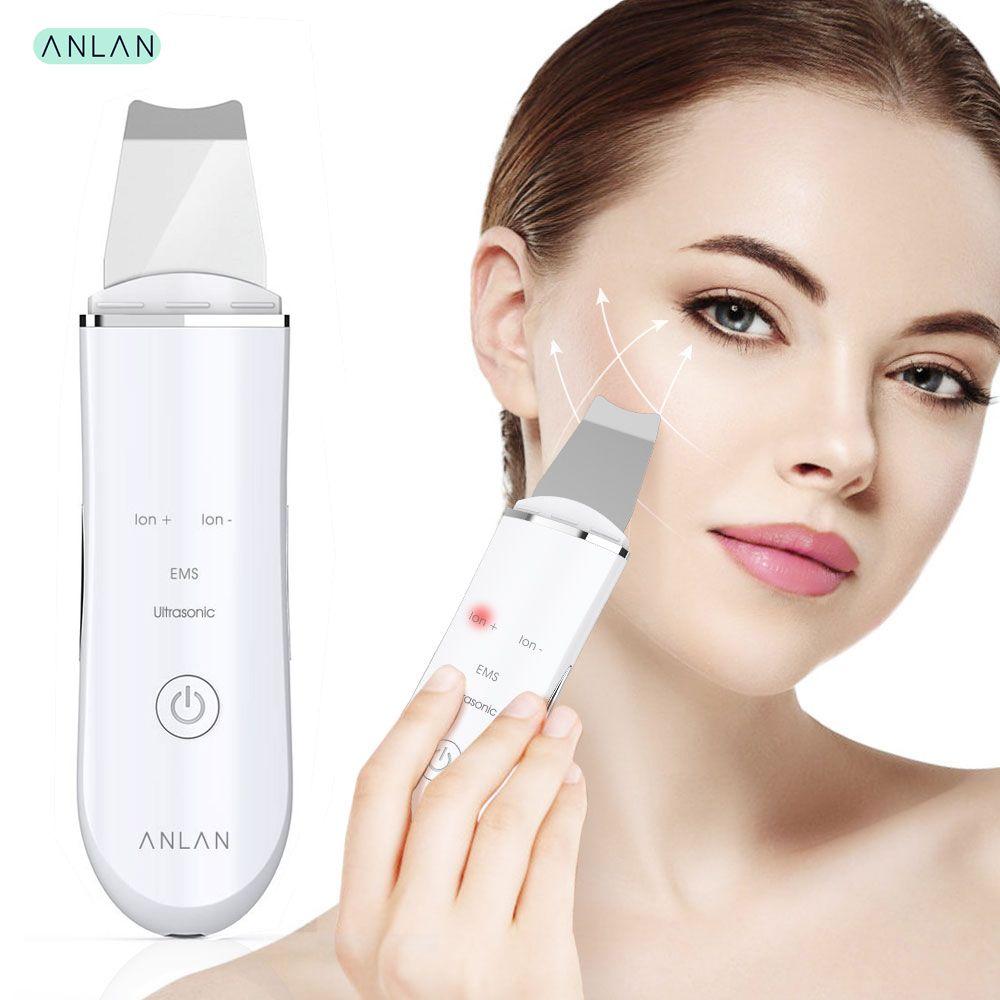 ANLAN épurateur de peau à ultrasons Machine de nettoyage de visage en profondeur pelle à éplucher