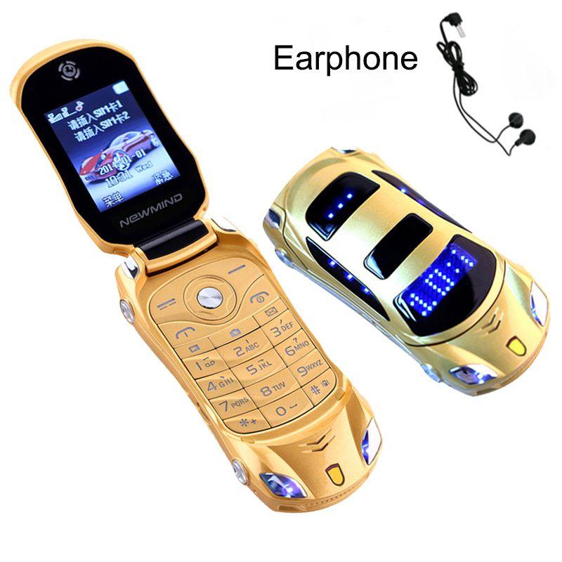 Newmind F15 clavier russe lampe de poche grecque double cartes SIM Mp3 Mp4 FM Radio enregistreur caméra modèle de voiture Mini téléphone Mobile P431