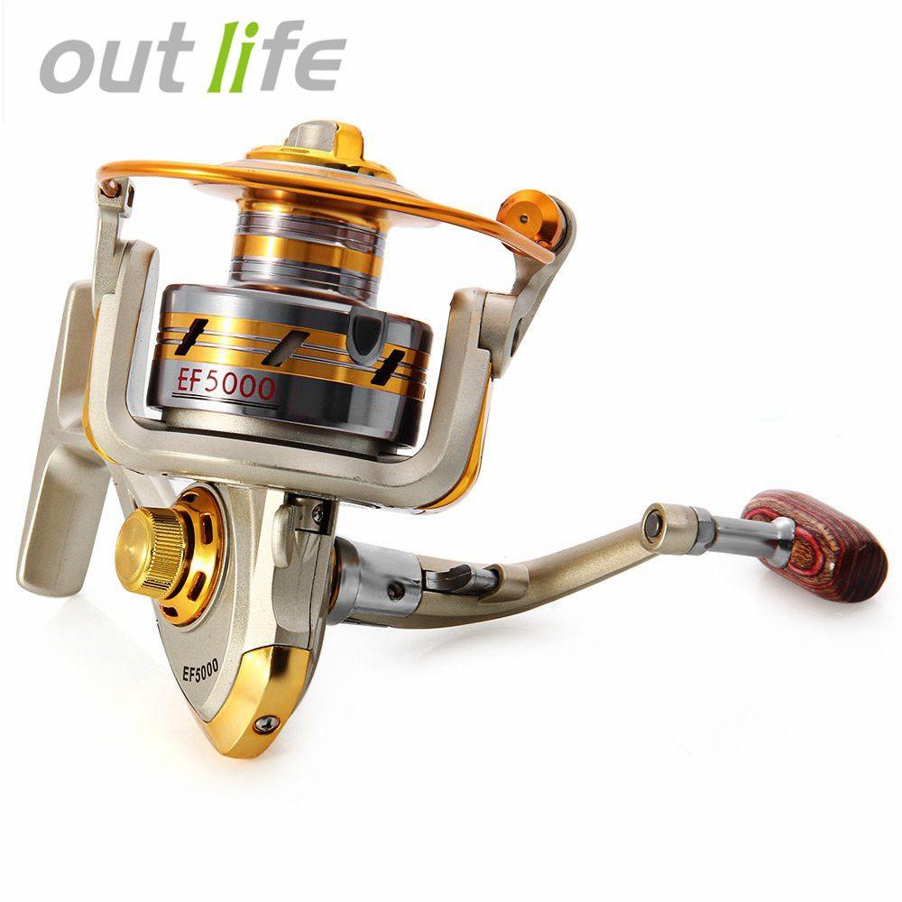 Outlife ef1000-7000 10BB 5.2: 1 давильные Рыболовные Катушки Fly колесо для свежий/соленой воды Рыбалка инструмент Интимные аксессуары