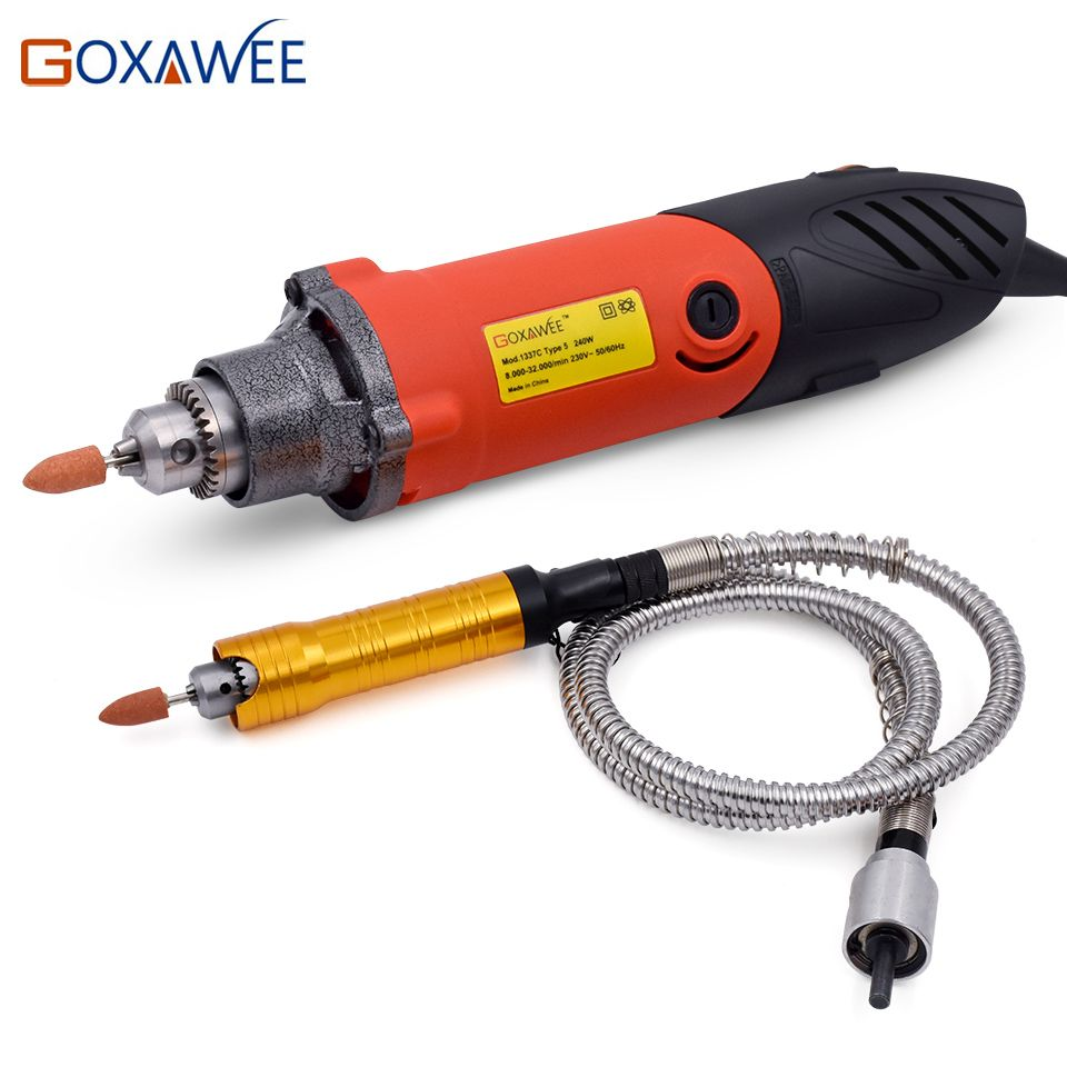 240W Mini Drill Electric Rotary Tools Dremel Style Electric Drill Machine Power Tools with Flex Shaft Hanpiece for Dremel Tools