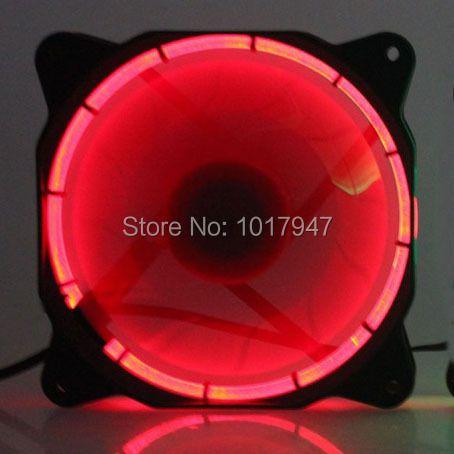 5 PCS lot Eclipse Red LED DC 12V 12cm 120mm 120x25mm 3Pin 4Pin PC CPU Case Cooling Cooler Fan