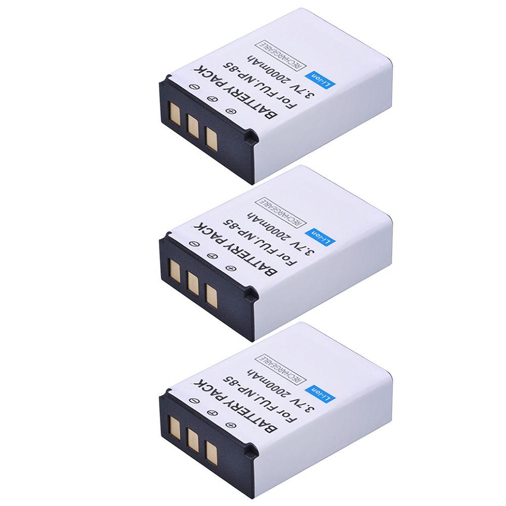 3 Stücke 2000 mAh 3,7 V NP-85 NP 85 Wiederaufladbare Kamera Akku für Fujifilm NP-85 und Fuji FinePix S1, SL240, SL260, SL280, SL300