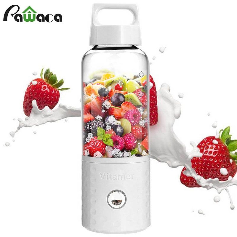 Portable Fruit Juicer Bottle Blender Cup USB Rechargeable Detachable Smoothie Maker Fruits Mixing Machine for Home Office Travel