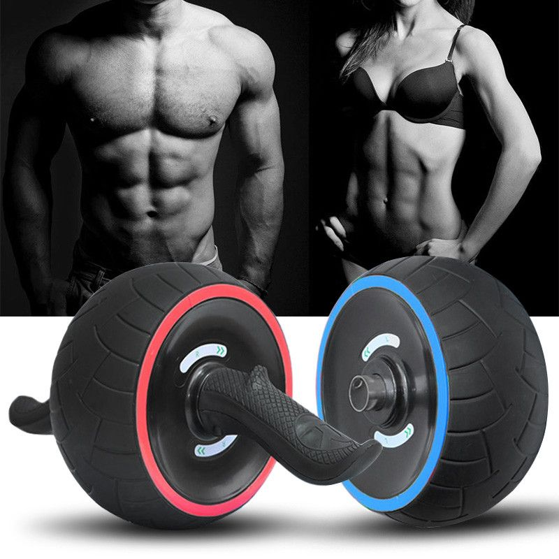 New 1PC Abdominal Wheel Round AB Rollers For Core Trainer Waist Arm Strength Exercise Crossfit Press Gym Home Fitness Equipment