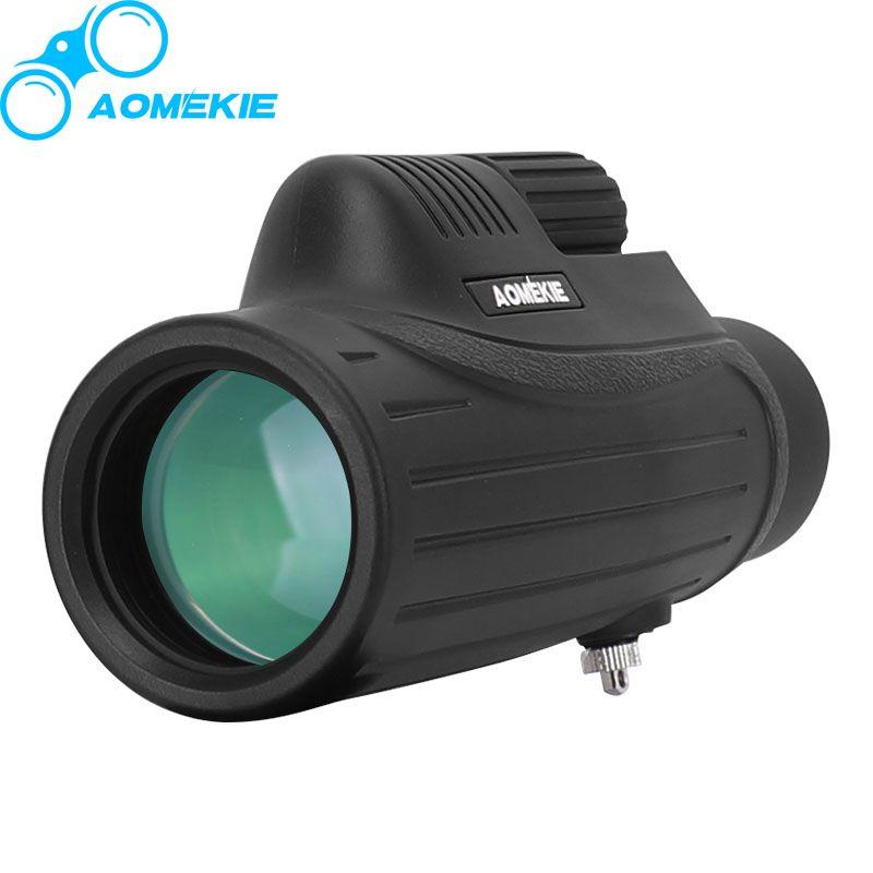 AOmekie 10x42 Монокуляр BAK4 Призма FMC оптические линзы высокий Мощность Охота участники телескоп компактный Зрительная труба Водонепроницаемый