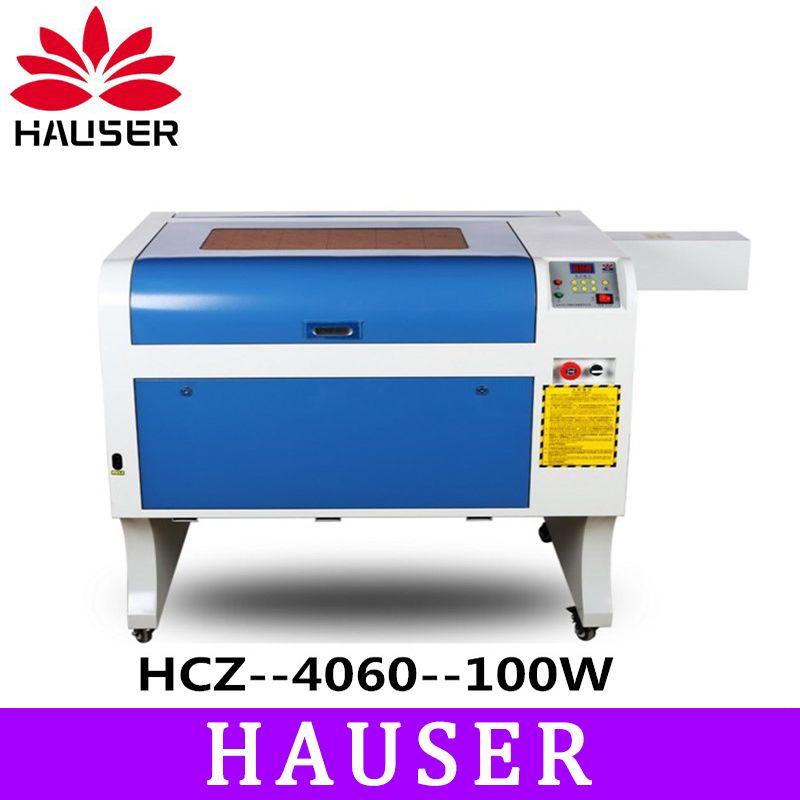 Freies Verschiffen HCZ 100 w co2 laser CNC 4060 laser gravur cutter maschine laser kennzeichnung mini laser engraver cnc router diy