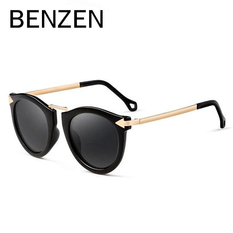 BENZEN Women Sunglasses Polarized  UV  Vintage Arrow Female Sun Glasses  Oculos De Sol Feminino Gafas De Sol With Case 6034