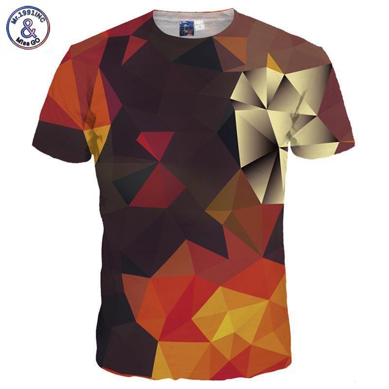 Mr.1991INC 3d T-shirt Men/Women Summer Tees Print Color Blocks 3d T shirt Fashion Brand Tshirts