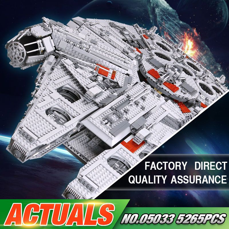 LEPIN 05033 Star Series War 5265Pcs 10179 Ultimate Collector's Millennium Toys Falcon Model Building Kit Blocks Bricks Set Toys
