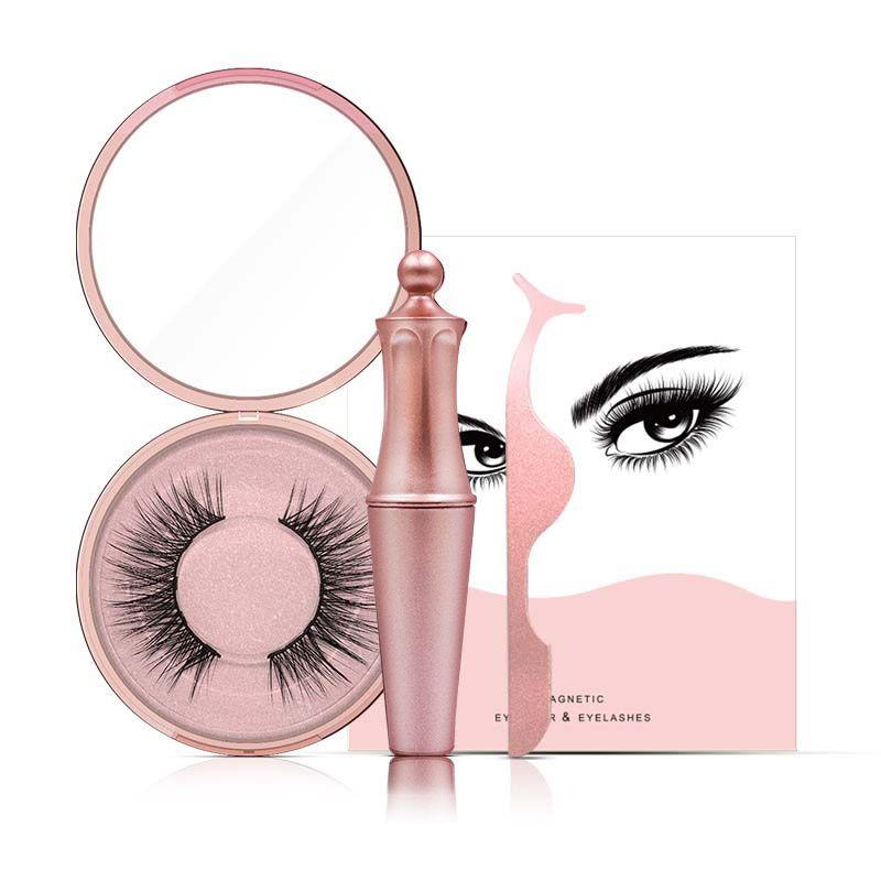 5 Magnet Magnetic False Eyelashes & New Magnetic Liquid Eyeliner & Tweezer Set Waterproof Long Lasting Eyeliner False Eyelashes