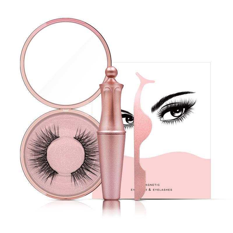 5 Magnet Magnetic False Eyelashes & New Magnetic Liquid Eyeliner & Tweezer Set Waterproof Long Lasting Eyeliner False Eyelashes