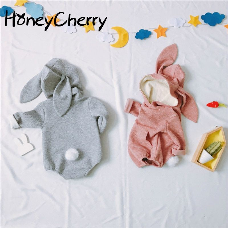 Baby Rabbit <font><b>Stereoscopic</b></font> Shape Of Children's Conjoined Clothes Baby Girl Clothes Bodysuit Baby Body For Newborn Babys