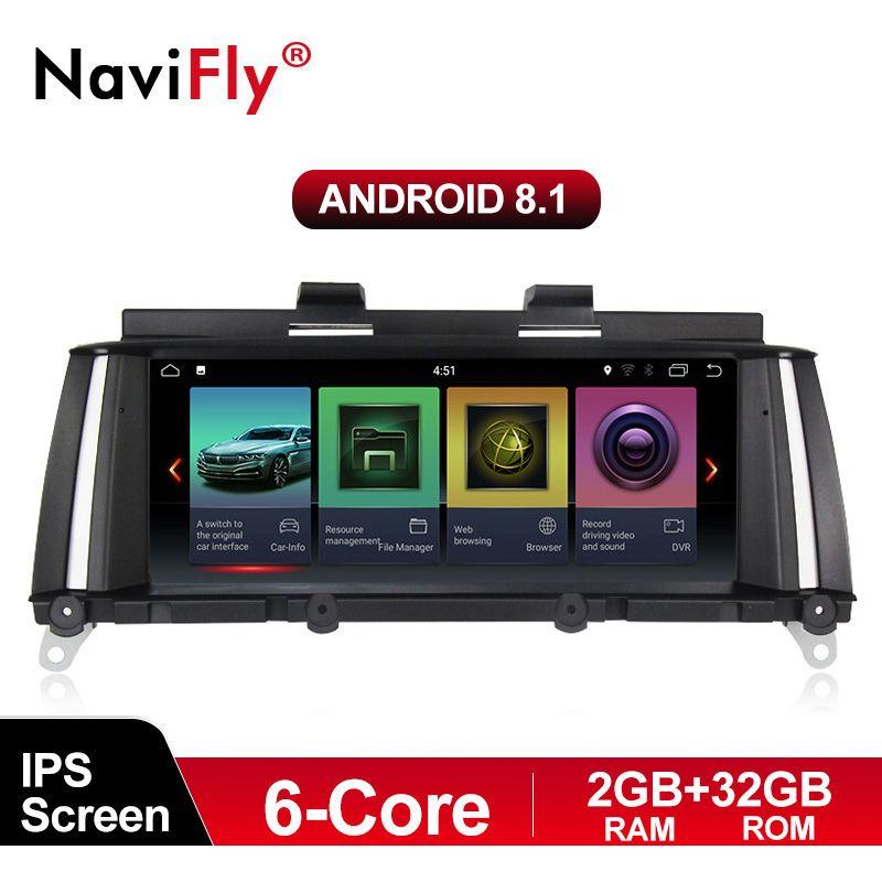 NaviFly IPS 6 core 2G + 32G Android 8.1 auto radio multimedia player für BMW X3 F25 X4 F26 2011-2017 Original auto CIC NBT system