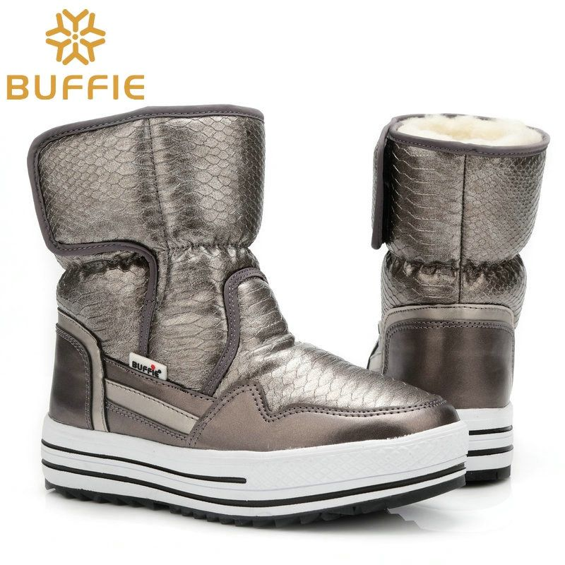 Boots woman shoes winter female warm fur water-resistant upper plus size fashion non-slip sole free shipping new style snow boot