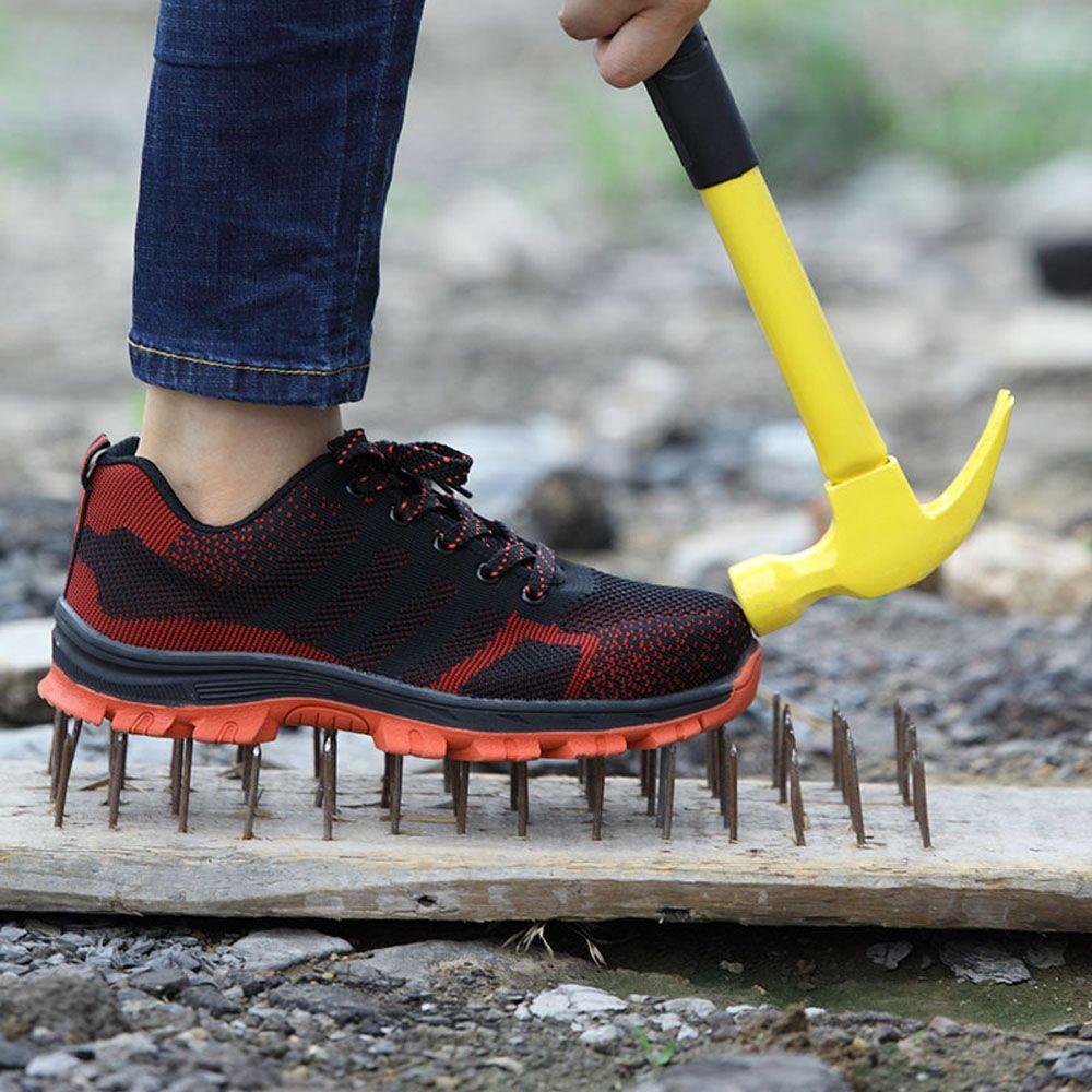 Embout en acier respirant pour hommes chaussures de sécurité pour hommes en plein air anti-dérapant en acier Anti-crevaison Construction bottes de sécurité chaussures de travail
