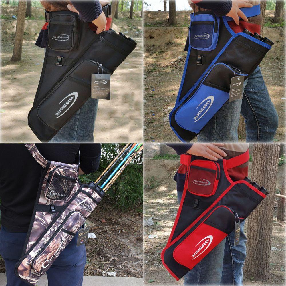 Tir à l'arc flèche taille transportant tir à l'arc carquois sac noir bleu rouge Camo couleur chasse carquois quatre couleurs